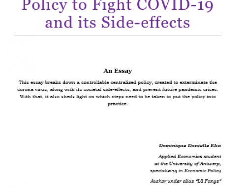 An Alternative Centralized Policy to Fight COVID-19 and its Side-effects
