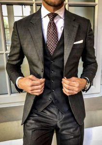 Bad bitches three piece suit sexy bulge meow